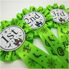 1st, 2nd and 3rd HalloweenThemed Rosettes, Slime Green Halloween 1 Tier Rosettes