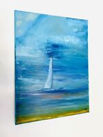 Oil Painting Sailboat Canvas Nautical Style Boat Wall Art Home Decor artwork