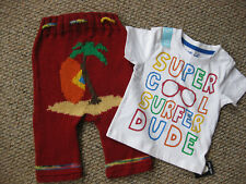 Surfer Dude T shirt ,shorties set 18/24 mths Pure wool nappy diaper cover Beach