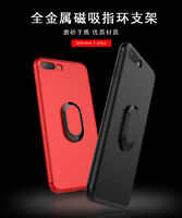 Phone Case for iPhone 7plus/8plus Soft TPU Metal Magnetic Rotating Ring Bracket