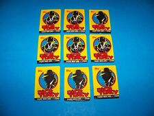 Dick Tracy Glossy Movie Trading Cards  (9 packs)  Vintage