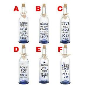LED Light Up Firefly Family Quotation Words Decoration Bottle Novelty XMAS Gift