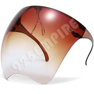 Men Women's Clear Face Shield Mask Goggles Transparent Reusable Visor Anti-Fog