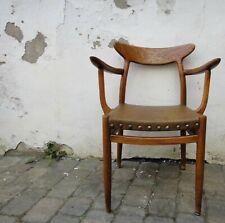 Hans Wegner W2 Stuhl armchair Eiche Leder Nieten mid century danish-design