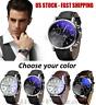 Fashion Men's Leather Dress Sport Quartz Wrist Watch Stainless Steel Y271