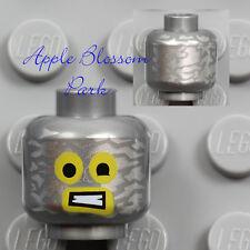 LEGO Emmet MINIFIG SILVER HEAD -Movie Boy w/Robot Robo Tin Foil Mask Smile 70816