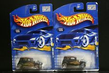 2 NEW HOT WHEELS '32 FORD VICKY 125 BLACK FLAMES