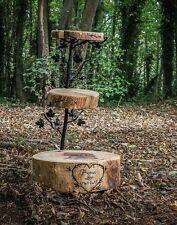 3 niveau personnalisé en bois Gâteau De Mariage Support Log rustique Cupcake