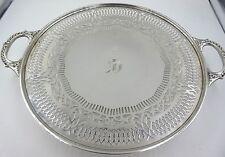 "1914 Gorham Sterling Silver Pierced Cake Platter 9 5/8"""