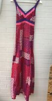MATTHEW WILLIAMSON BUTTERFLY MAXI DRESS SIZE 8 Summer Holiday Beach Purple Pink