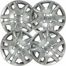"""4 PC Hubcaps Fits 10-12 Nissan Sentra 16"""" Silver Replacement Wheel Skin Cover"""