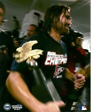JOHNNY DAMON 8x10 PHOTO w/Trophy BOSTON RED SOX Team Celebration 2004 AL CHAMPS!