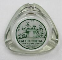 c1950s Cafe El Portal Glass Ashtray Golden Gate Park San Francisco Restaurant