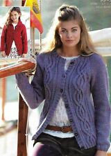 e58562c79d8a5c 1941 LADIES GIRLS ARAN CARDIGANS 24-46