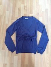 Ladies Dorothy Perkins Blue Fine Knit Tie Wrap Jumper - Size 8 **FREE P&P**