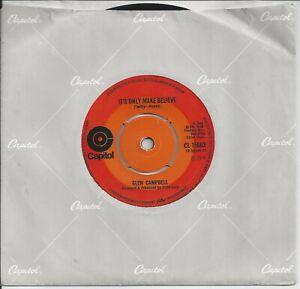 "Glen Campbell - It's Only Make Believe 7"" Vinyl Single 1970"