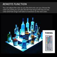 3 Layer LED 31'' Corner Liquor Bottle Display Shelf Lighted Color Changing W/ RC