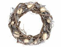 Gisela Graham Easter Twig Wreath WIth Gold Eggs - Easter door wreath