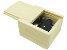 Wind Up Wooden Music Box with Swan Lake Tune