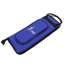 Portable Percussion Parts Drum Sticks Bag Soft Case With Shoulder Strap Blue