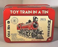 BATTERY OPERATED LOCOMOTIVE EXPRESS TOYTRAIN IN TIN OLD #9 16 PCS MINI SET NEW