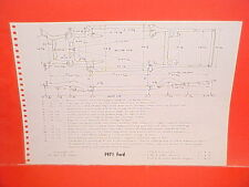 1971 FORD GALAXIE LTD CONVERTIBLE TORINO COBRA GT RANCHERO FRAME DIMENSION CHART