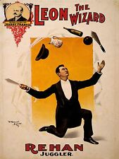 ART PRINT POSTER Pubblicità CIRCO vaudeville LEON guidata Rehan giocoliere Act nofl1590