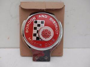 Bordon & District Motor Club. Mint Renamel Badge,Original Box. Car Club Badge.