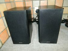 SONY SS-CMX750 BOOK SHELF PAIR OF SPEAKERS with Speaker Cables