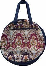 Runde Schultertasche Blumen Muster fein gewebt Handtasche Tasche Shopper 15142