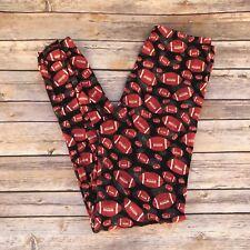 Brown & Black Football Women's Leggings PS Plus Size TC 12-20 Super Soft