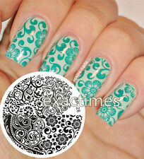 Nail Art Stamping Plate Mix Abstract Images Steel Template #28 BORN PRETTY