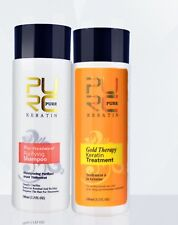 100ml PURE Gold Therapy Keratin Treatment and Purifying Shampoo Straight Hair