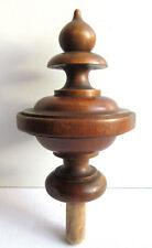 Belle boule d'escalier en bois tourné, époque 1900