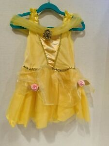 Disney Princess Belle Beauty & the Beast Yellow Costume Dress Size 3t-4t