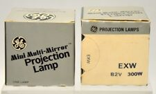 "2 - Ge ""Exw"" Mini Multi-Mirror Projection Lamp 300W-82V - New Old Stock"
