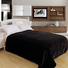 "ShiGo Heavy Weight Super Soft Luxury Twin size Blanket 60""X80""Solid Black"