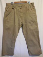 R M WILLIAMS ~ Mens Cream Sand Beige Cotton Casual Pants 42R Hemmed/Shortened