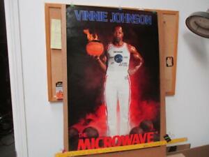 "VNTG RARE NOS 1988 ""THE MICROWAVE"" VINNIE JOHNSON COSTACOS POSTER 2X NBA CHAMP"
