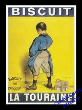 Carte postale publicitaire Biscuit au Chocolat La TOURAINE pub Firmin Bouisset