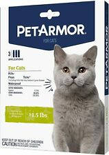 New listing Petarmor for Cats, Flea & Tick Treatment (Over 1.5 Pounds) 3 Month Supply
