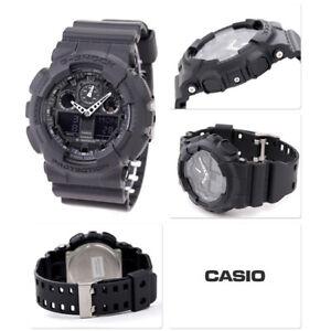 Casio G-Shock Men'S Watch GA-100-1A1ER Black Resine Robust Protection Sport
