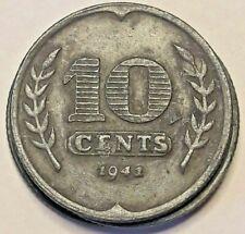 10 Cents 1941-1943 Niederlande - Netherlands IIIe REICH  WWII KM#173