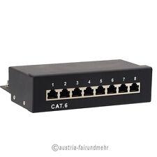 """Patchpanel  8-Port CAT.6 LSA+ Gigabit Cat6 schwarz"