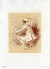"""1896 Original Maîtres de l'Affiche Special Plate 1 """"Concert"""" by Jules Chéret"""