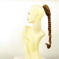 Postiche queue de cheval natte tresse 50 cm blond foncé cuivré ref 4 en g27