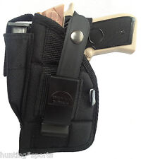 Side holster w/ Mag Pouch Fits Hi Point Auto 9mm & 380 with laser LH or RH draw