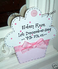 PERSONALISED Cupcake Sign Plaque ~ NEW BABY ~ Name Date Weight ~ Gift Present