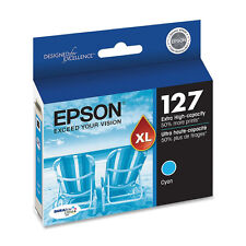 Genuine Epson T127 127 Cyan printer ink Workforce 845 645 545 60 NX625 NX530