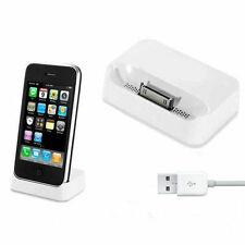 NEW DESKTOP DOCK DOCKING STATION DATA SYNC USB CHARGER FOR APPLE iPHONE 3 3S 3G